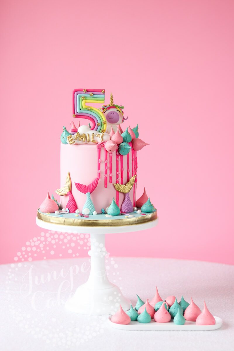 Bright And Fun Rainbow Unicorn Cake By Juniper Cakery