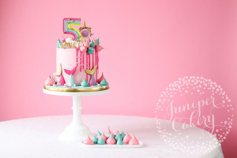 Rainbow Unicorn And Mermaid Birthday Cake By Juniper Cakery