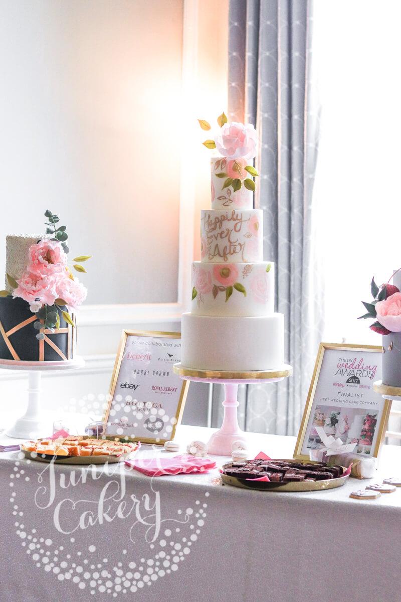 Saltmarshe Hall wedding cakes by Juniper Cakery in Yorkshire