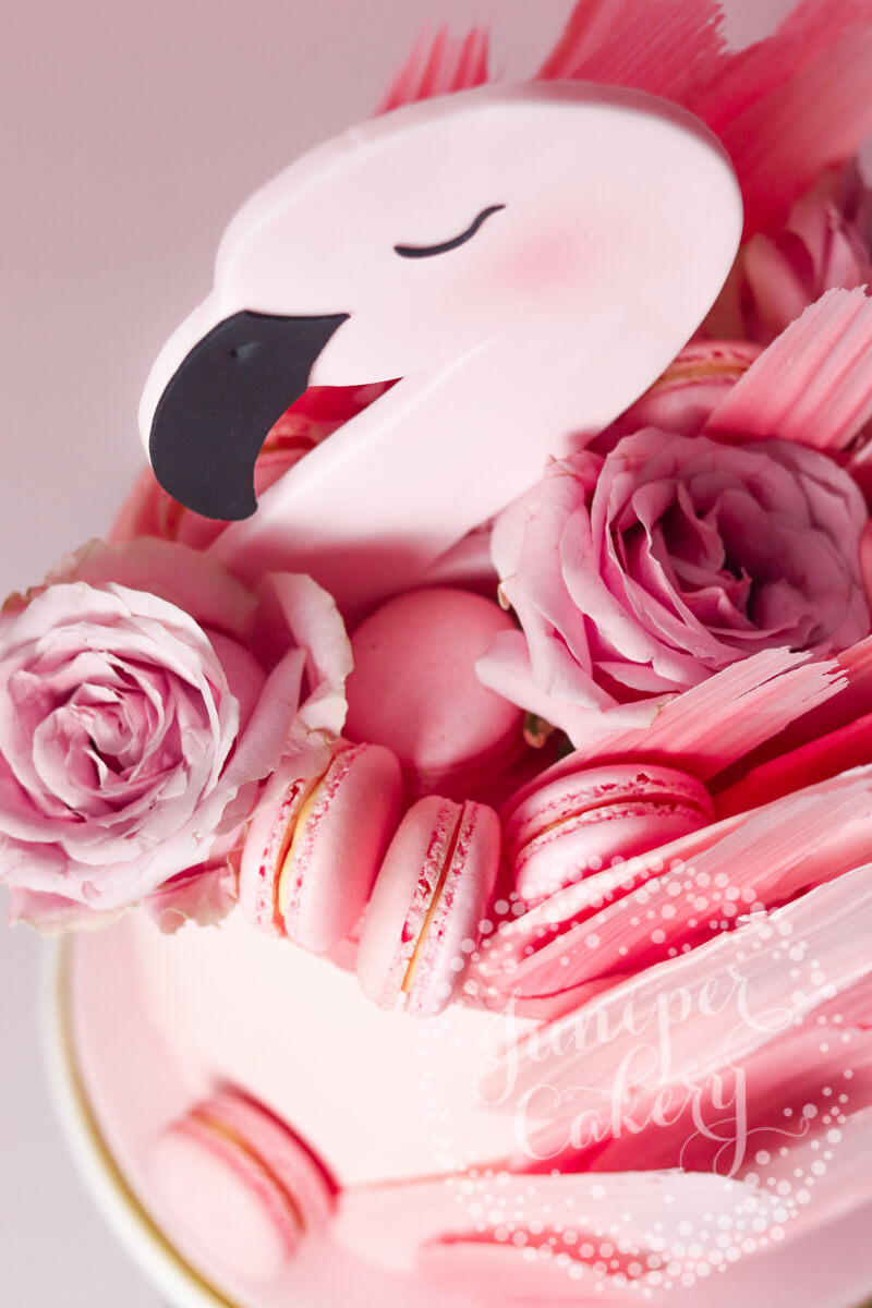 Cute Little Flamingo Birthday Cake By Juniper Cakery