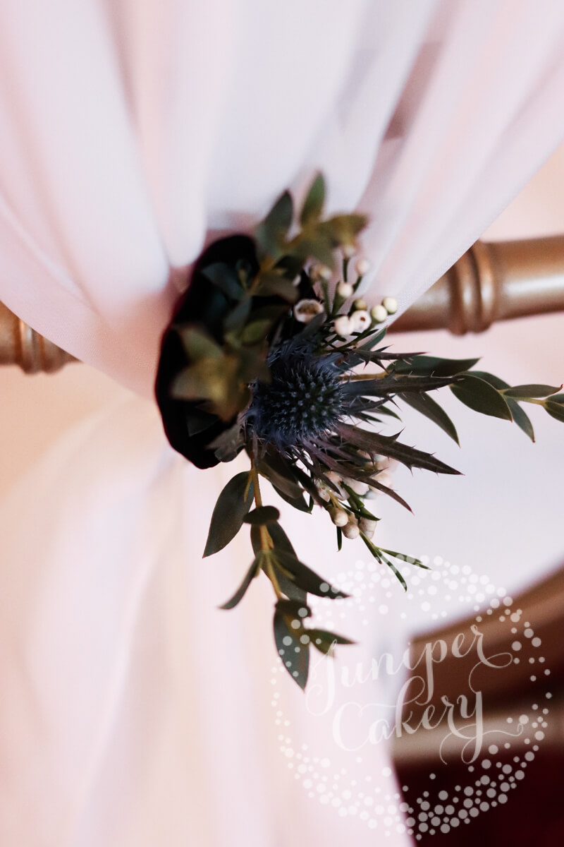Berry and navy themed wedding at Rise Hall with flowers from Floral Lounge and styling by Cherry Williams