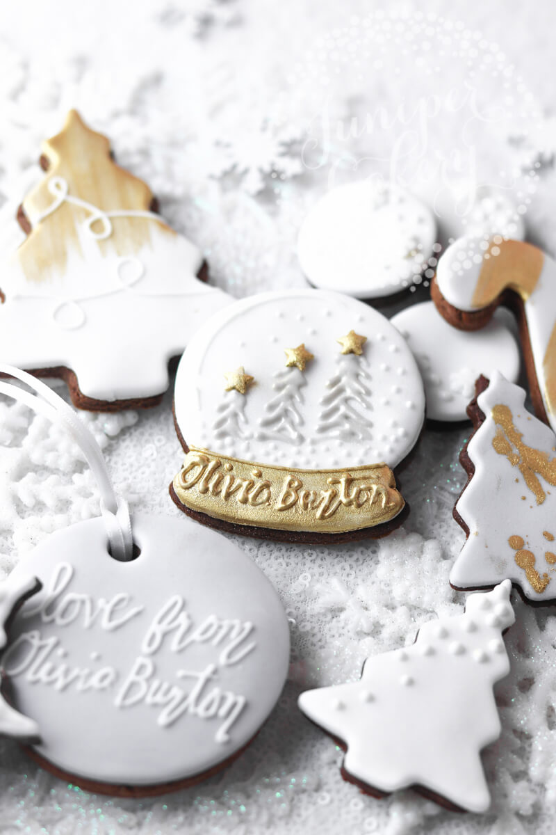 Olivia Burton London branded cookies by Juniper Cakery