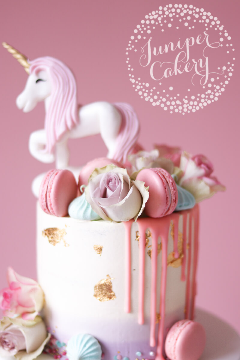 Pretty pastel cake by Juniper Cakery