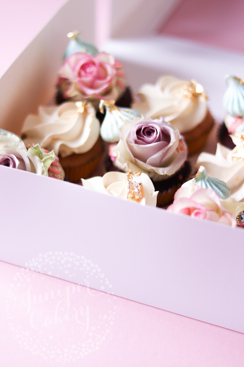 Pretty and cute pastel cupcakes by Juniper Cakery