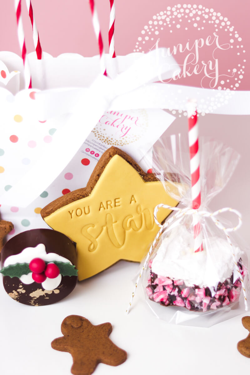 Festive Christmas Eve Treat Bag by Juniper Cakery