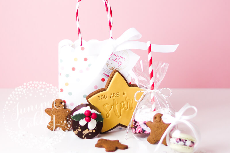 Christmas treat bag by Juniper Cakery