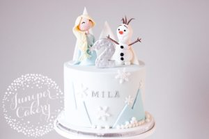 Cute Frozen Birthday Cake!