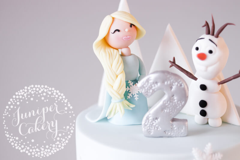 Cute Frozen birthday cake by Juniper Cakery