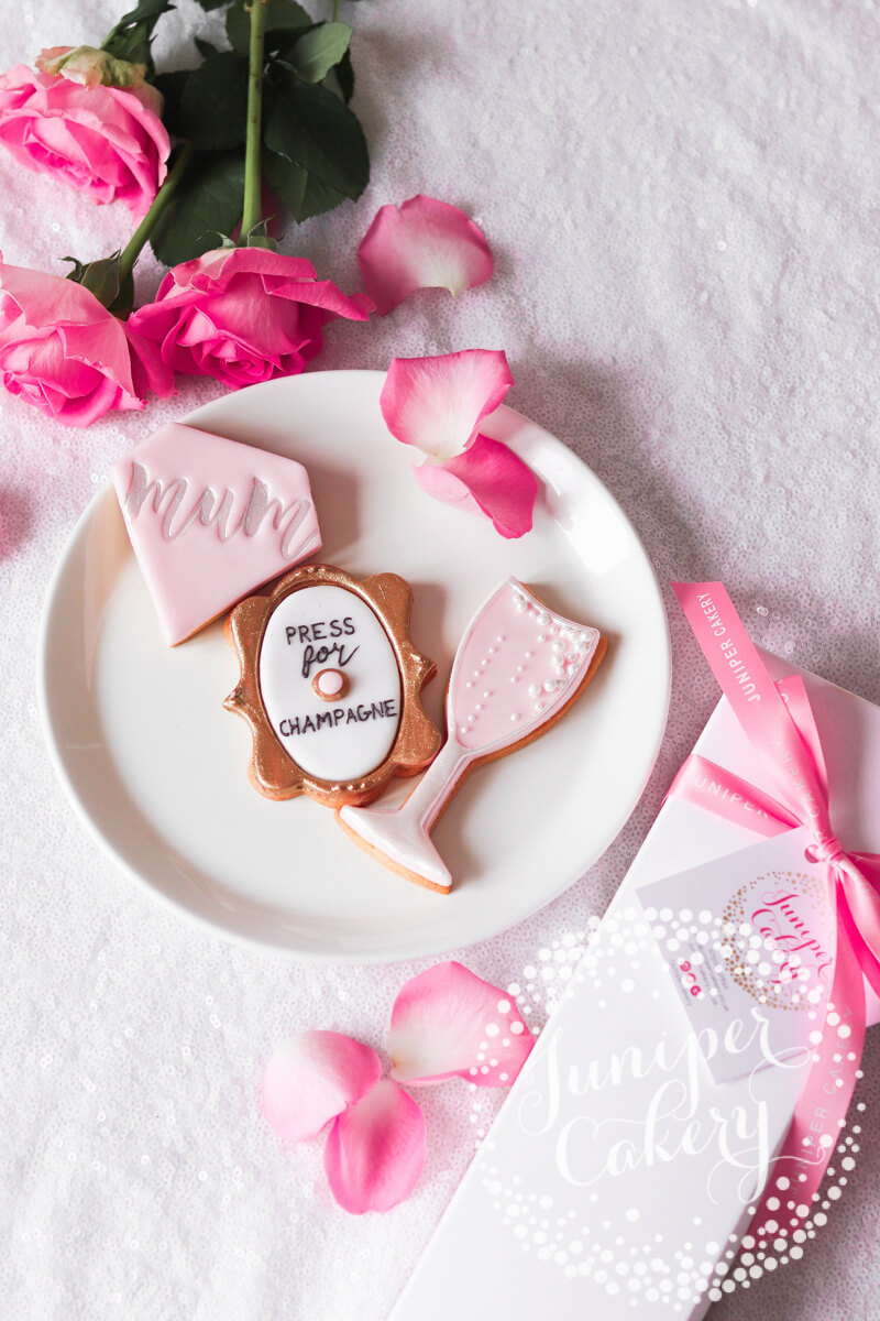 Press for champagne cookies by Juniper Cakery