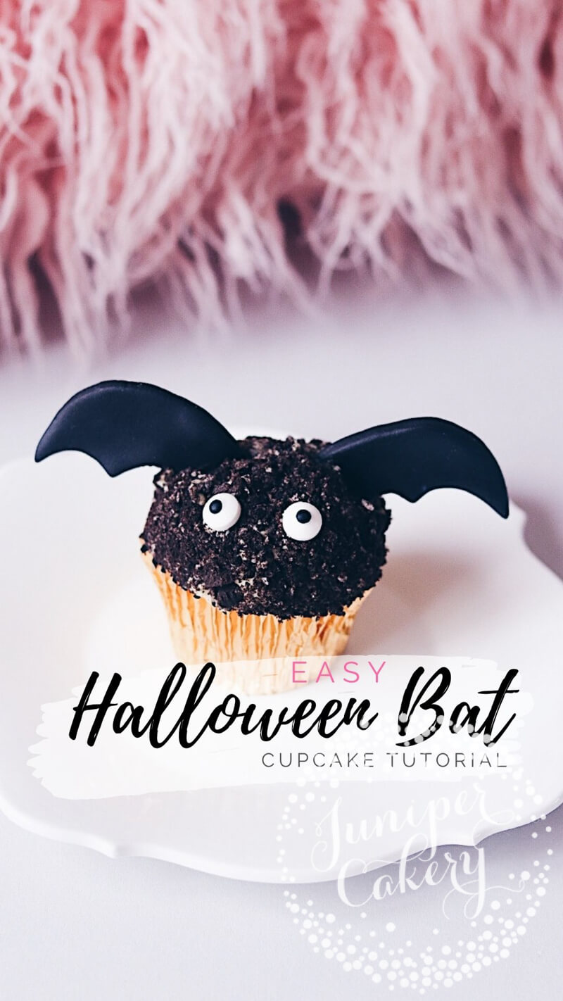 Bat cupcake tutorial by Juniper Cakery