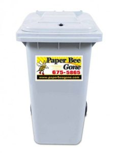business paper document shredding bins