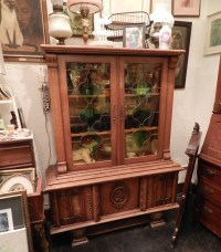Stuff For Sale Antique China Cabinet With Stained Glass ...