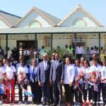 Jovenel Moïse accueille chaleureusement les Grenadières 35