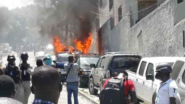 Incendie de véhicules appartenant à l'ULCC: l'institution plaide pour la mise en mouvement de l'action publique