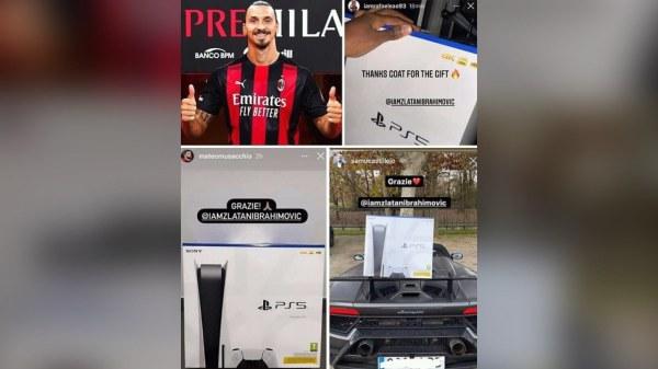 Foutbòl: Zlatan bay chak jwè Milan AC nouvo PS5 lan