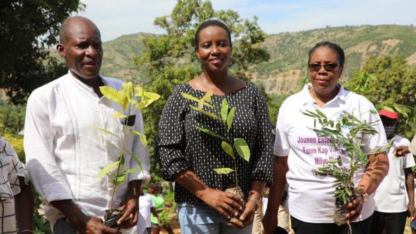 Martine Moïse commémore la Journée internationale des femmes rurales dans le Nord-Ouest