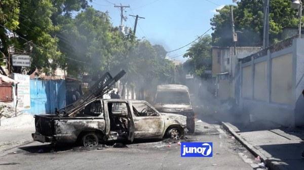 Mouvement des étudiants: panique à l'Avenue Christophe, un véhicule incendié