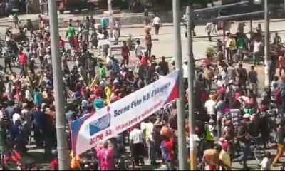 Mobilizasyon : lapolis te anpeche manif la rive devan anbasad amerikèn