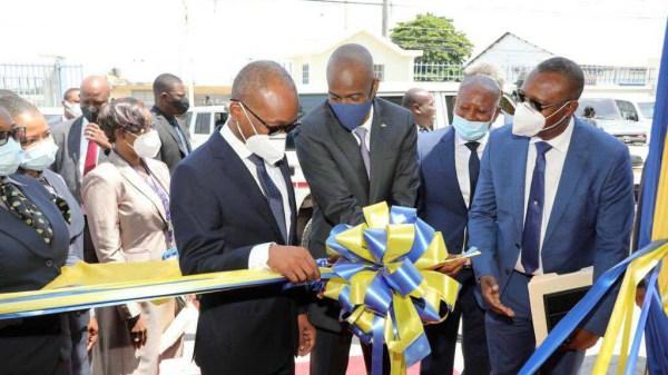 Jovenel Moïse inaugure le nouveau bâtiment de la Douane à Tabarre