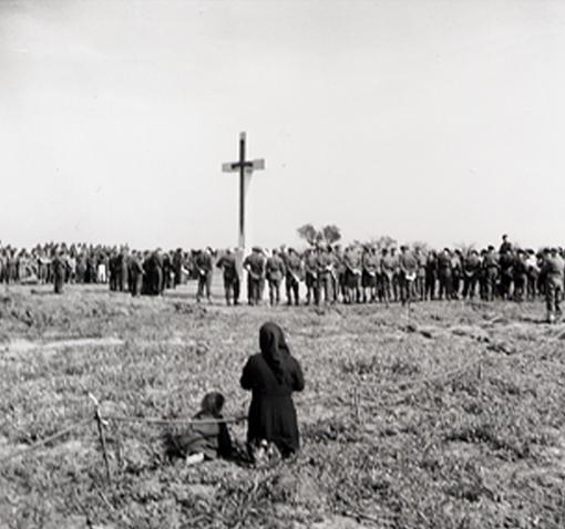 Dedication of Canadian Memorial Cemetery, Ortona a Mare, Italy, 16 April 1944.