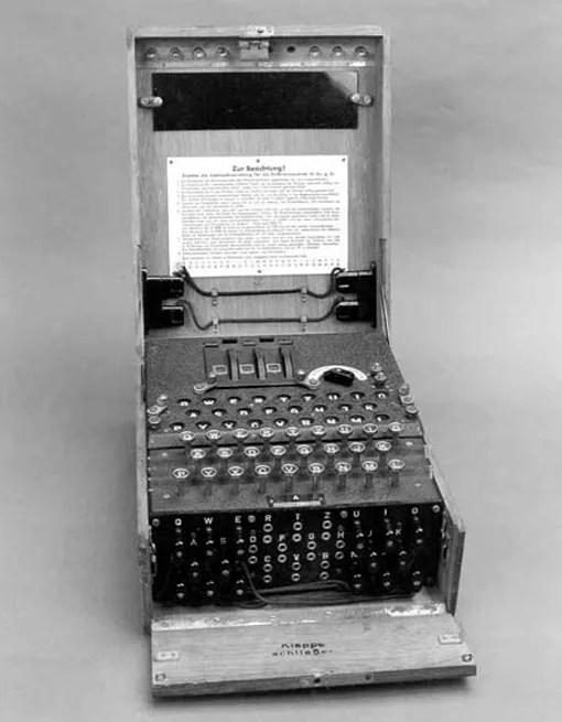 Enigma encryption device.