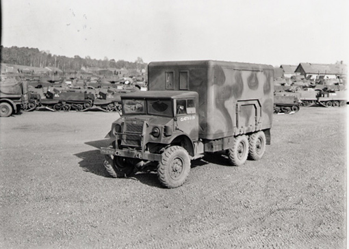 Canadian Military Pattern truck in version used for mechanical repairs. Chevrolet Model C60X, 3-ton, 6 wheel lorry. Canadian designed and built in Oshawa, Ontario. England, 19 March 1944.