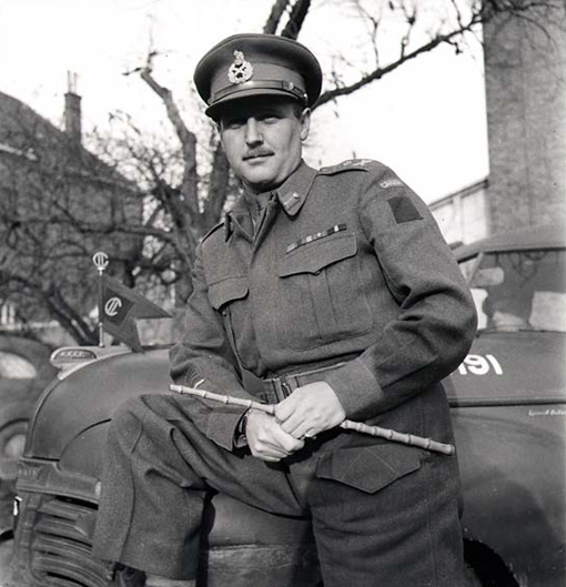 Major-General A.B. Matthews in Nijmegen, the Netherlands, on November 15th, 1944