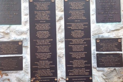 The memorial plaques