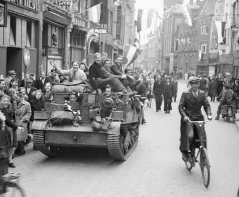 Canadians liberated the Dutch city of Utrecht in May 1945.
