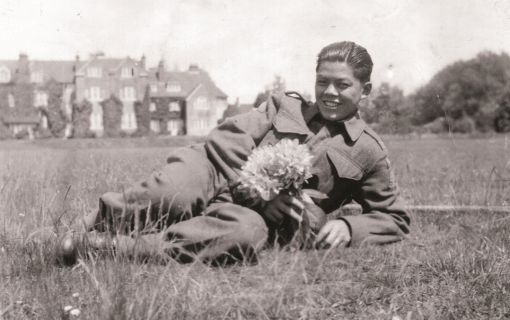 Young George Chow in England in 1943.