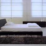 Shenzhen furniture photography bed and floor lamp
