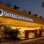 intercontinental Hotel exterior night view architectural photographer Shenzhen