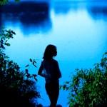 Guangzhou outdoor portrait photography blue lake