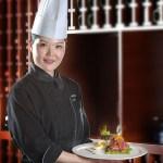 China Headshots portrait photographer chef with food