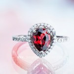 jewelry photographer ring with ruby