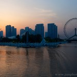 GuangZhou architectural photographer sun set the TianJin eye