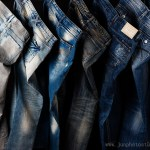 wash jeans line up product photography China