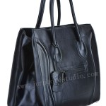 product photography Guangzhou black leather handbag