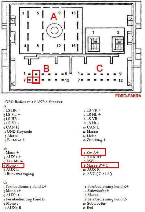 ford focus sony radio wiring diagram low voltage cable 18awg Распиновка разъемов автомагнитол - Радио для всех