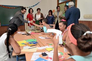 Sánchez Rubio visitó la Escuela de Verano Padre Manjón.