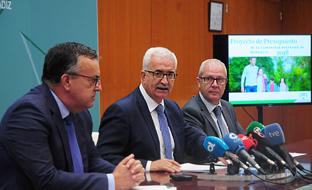 El vicepresidente de la Junta presentó los presupuestos para 2018 en Cádiz.