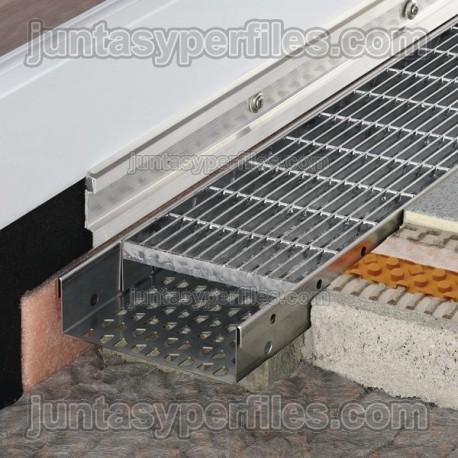 Canaleta de agua cerrada y reja de acero inoxidable TROBA