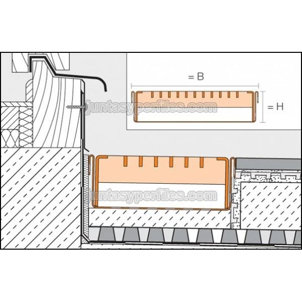 Canaletas de agua perforada y rejilla de acero zincado