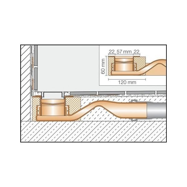 Kit desage platos de ducha de obra de altura reducida