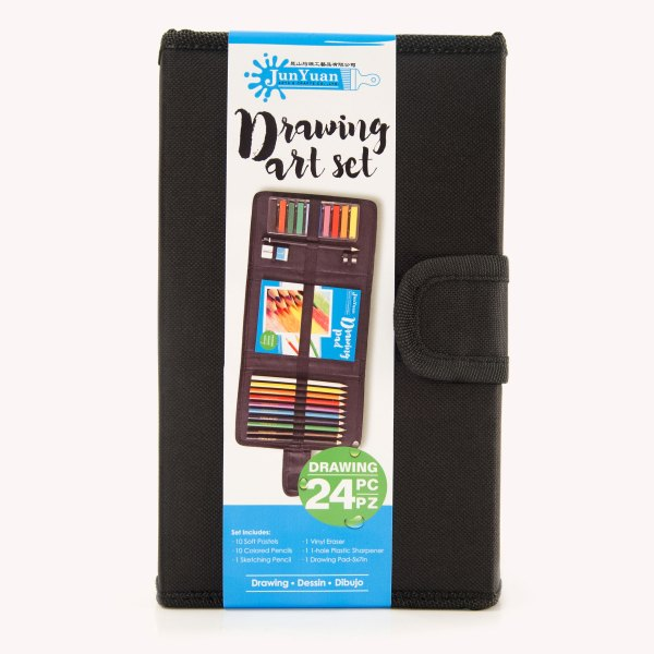24pc Nylon Mixed Media Drawing Art Set