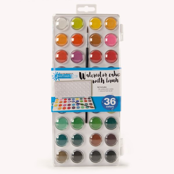 36pc Injection Molded Watercolor Cake Set