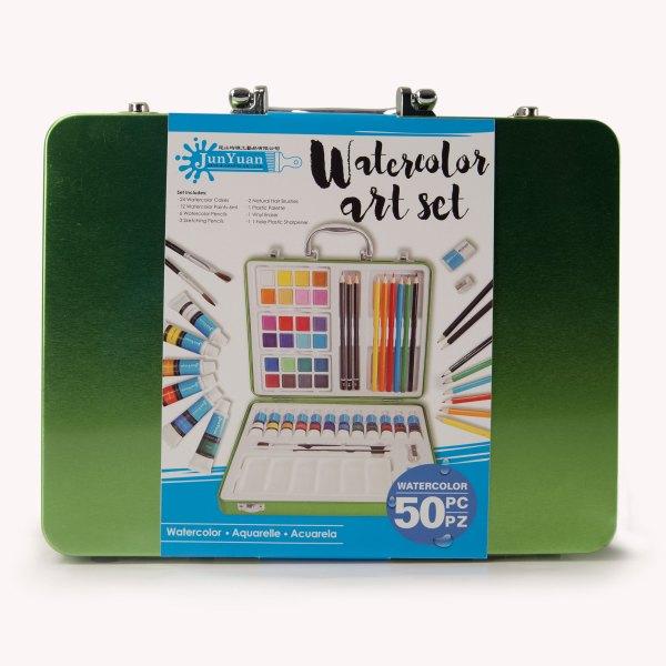50pc Aluminium Watercolor Art Set