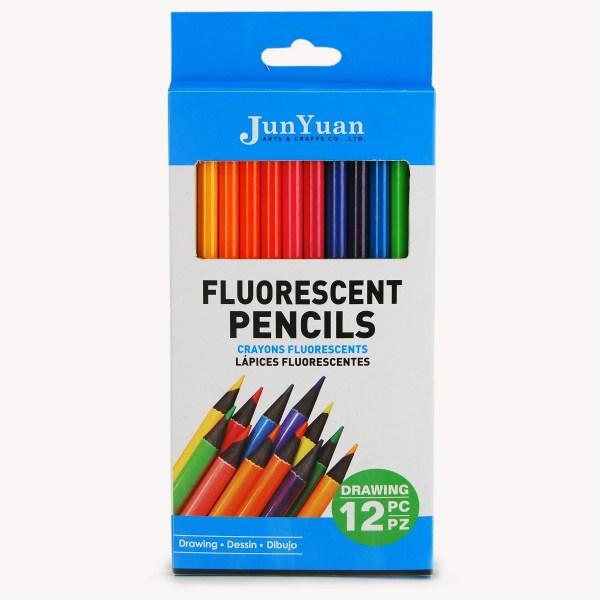12pc Fluorescent Colored Pencil