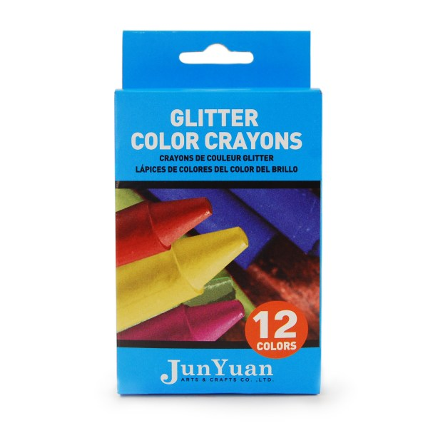12pc Glitter Color Crayons