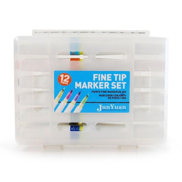 12pc Plastic Fine Tip Artist Marker Set